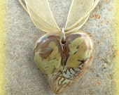 Fused Glass Necklace - Heart