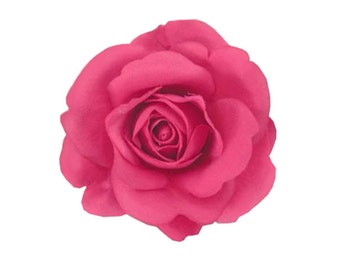 Rose Flower Hair Clip Bridal Wedding 4.00 Inches. Choose color