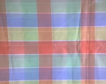 Pastel Plaid Flabric X0331 Cotton Polyester Blend 1 1/2 Yards