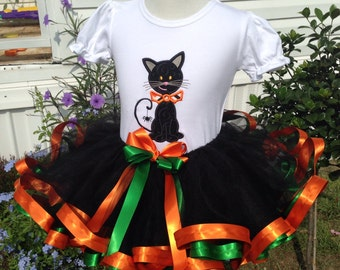 Halloween TuTu size 0-6 months up to size 8