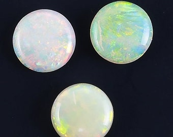 Round Australian Opal Cabochon Stone, Collection-Quality