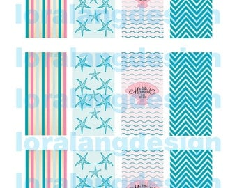 DIY Printable Vintage Carnival Circus Mini Candy Bar Wrappers INSTANT DOWNLOAD