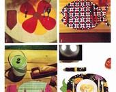 Vintage 70s Decor Pattern/ 1970s Vintage Simplicity Pattern Kitsch Place Mats and Napkins 5717