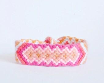 diamond friendship bracelet pink