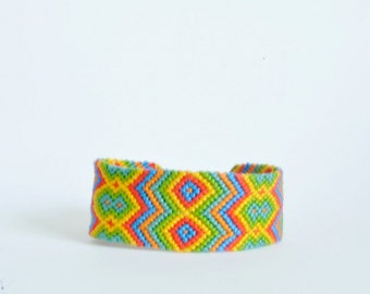 Wide friendship bracelet