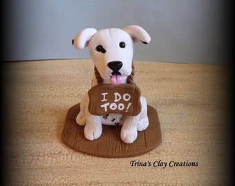 Wedding Cake Topper Custom Cake Topper Yellow Lab Puppy