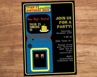 Arcade Video Game Party Invitation