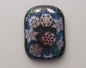 Dichroic Fused Glass Cabochon - Gem Stone - Cabochon Cab - Bead Supply- Glass Bead - Wire Wrapping - Jewelry Making - Stained Glass 3044