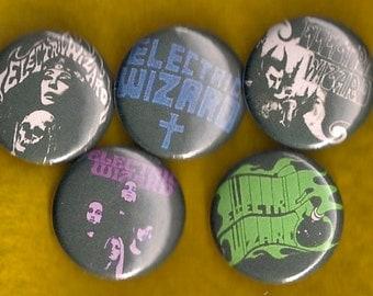 "ELECTRIC WIZARD 1"" Pins Buttons Badges Set of 5 Stoner Doom Metal Heavy Metal 1 inch pinbacks"