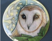 Celtic Owl Pocket Mirror