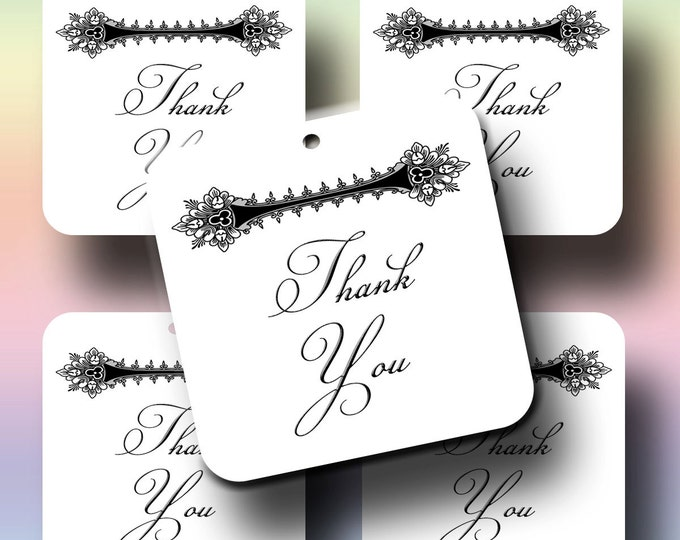 CLEO 2x2, Gift Tags, Favor Tags, Favor Tags, Thank you tags