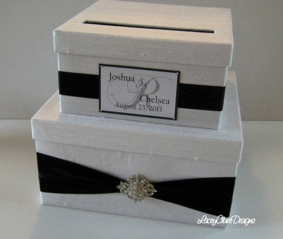 Black And White Wedding Gift Card Box : Card Box Wedding Card Box Money Holder Gift Card Holder