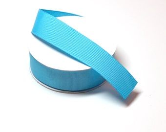 Island Blue Turquoise -  Wholesale Grosgrain Ribbon - Grosgrain Ribbon 10 Yards - Ribbon - DIY Crafts - Solid Color Ribbon - Ribbon for Bows