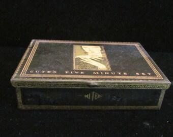 Art Deco Tin Cutex Tin Cutex Nail Care Box 1920's Tin Art Deco Box Vintage Tin Box RARE