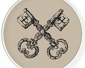Instant download,Free shipping,Cross stitch pattern, Crossstitch PDF/JPEG,vintage key pattern, cross stitch pillow pattern,zxxc0507