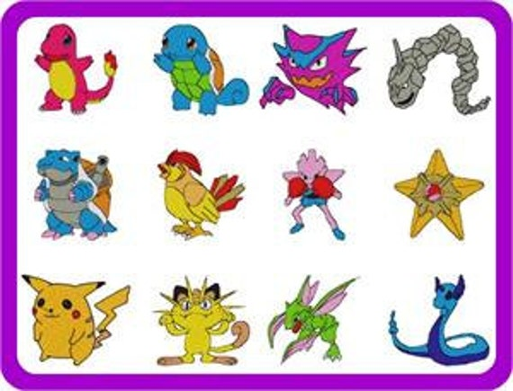 37 pokemon embroidery designs BOGO instant download