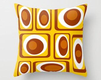 Retro Pillow. Modern Throw Pillow, Decorative Throw Pillow , Cool Pillow, Mid Century Modern Pillow, Mod Pillow, Modern Cushion,