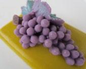 Grape Soap Bar - Stocking stuffer, gifts for teens, gifts for woman, grape gold soap bar