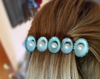Limpet Shell and Pearl Barrette - Beach Wedding - Beach Hair Accessory