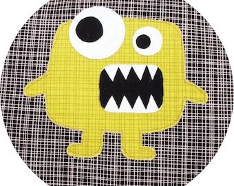 Monster Applique Pattern - Instant Download