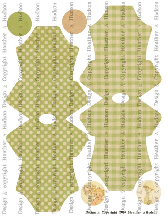 Vintage Baby Girl Boy Twins Sweet Green Onesie Card Base Set Digital Collage sheet Printable