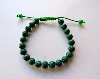 Tibetan mala Malachite wrist mala/ bracelet for meditation