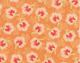 Somerset - Geraniums in Persimmon by Fig Tree & Co for Moda Fabrics - Last Yard