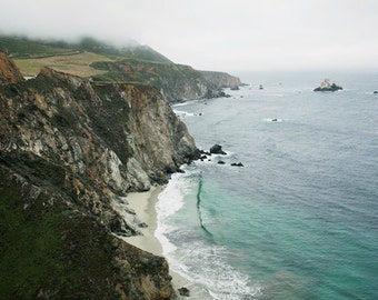 """Nautical Photography - Big Sur - California Landscape Photography - PCH HWY 1- Nautical Beach Decor - Highway 1- """"Pacific Coast Highway"""""""