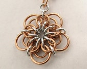 Demeter Chainmaille Flower Pendant