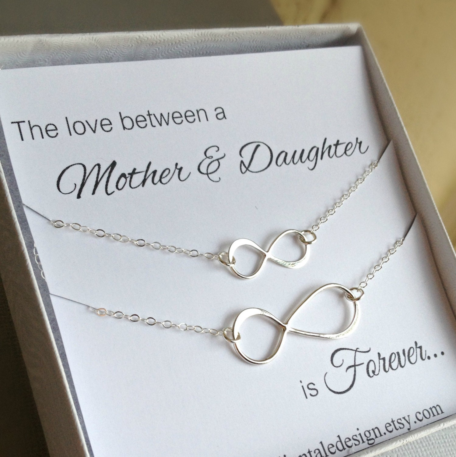 Mother Daughter Necklace Set Infinity By Anatoliantaledesign