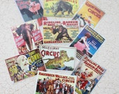 Miniature Vintage Circus Poster Set of 10  in One Twelfth Scale