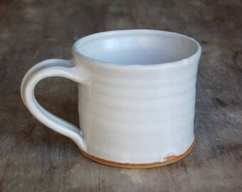 Coffee Mug, Handmade Ceramic Tea Cup Gift in White *Made to Order*