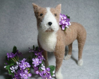 Pit Bull, Needle Felted Bully, One of a KInd