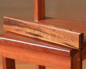 Don't Wait for Sleep to Dream Quote Engraved in Wood