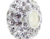 Crystal Zircon Stone Charm Handmade .925 Sterling Silver Bead European Style Charm Fashion Jewelry