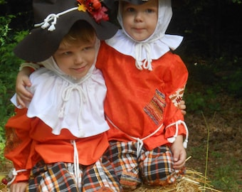 """C142  Ready To Ship in 1 Week     Adorable """"Pumpkin""""  Scarecrow Halloween Costume  Child's 4"""