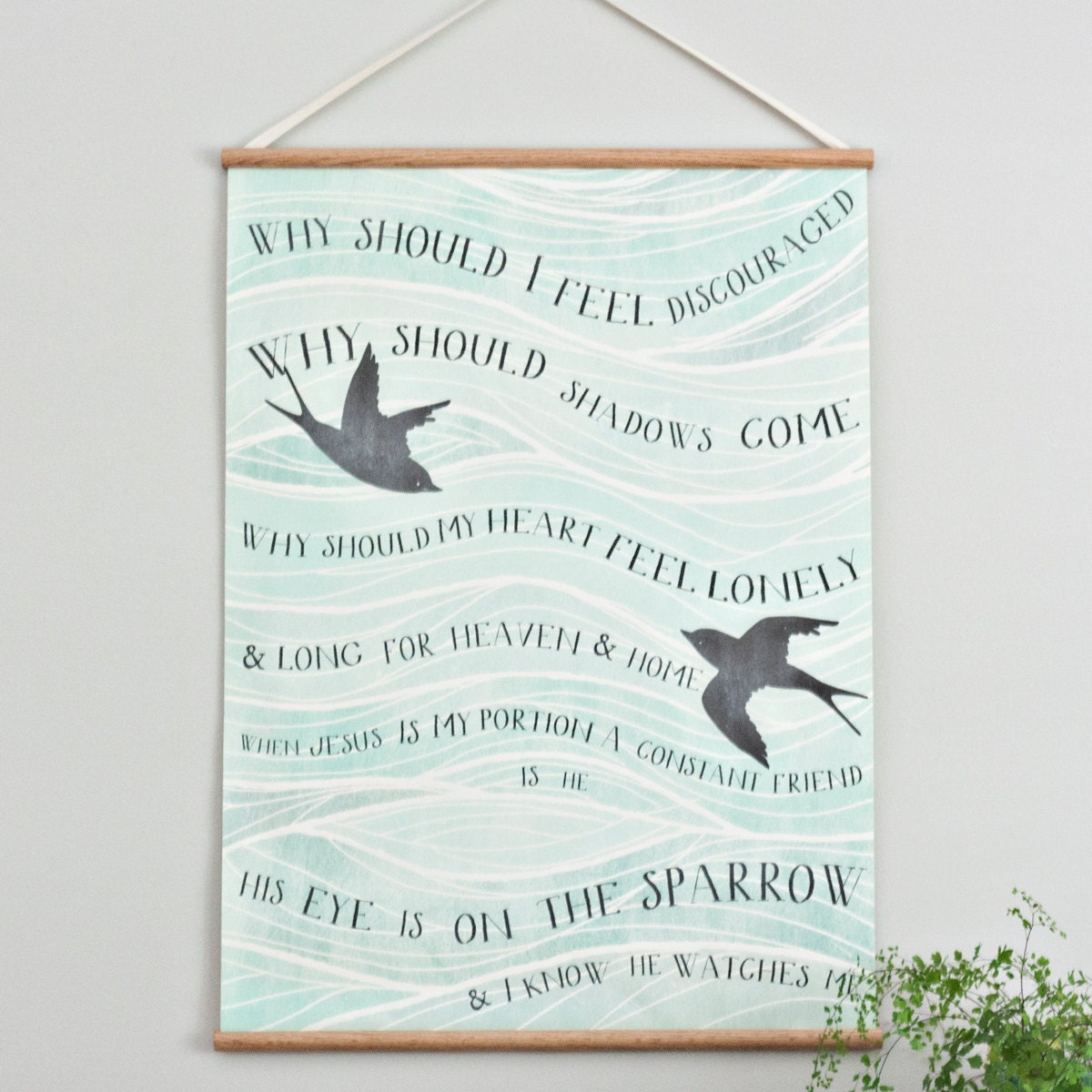 Sparrow - Large canvas wall hanging