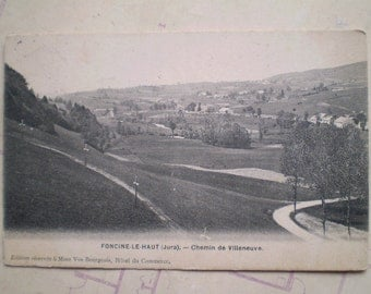 Foncine le Haut - Early 1900s - Antique French Postcard