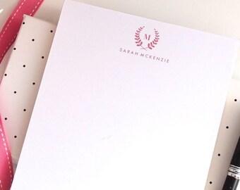 Personalized Notepad - Laurel Monogram