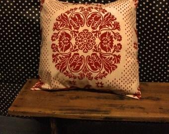 Big Ikat Printed Cotton Canvas Pillow