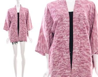 Vintage 60s Pink Watercolor ABSTRACT ADVANT GARDE Art Print Kimono