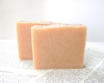 Orange Patchouli Soap, Exfoliating with Organic Blue Cornmeal bar soap