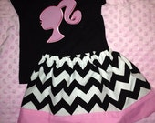 Barbie Girl!! Barbie Shirt with matching Skirt