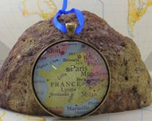 France Map Christmas Ornament, Keep a memory Alive