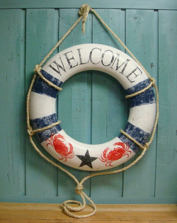 Sign Vintage Beach House Wall Hanging Nautical Decor READY TO SHIP