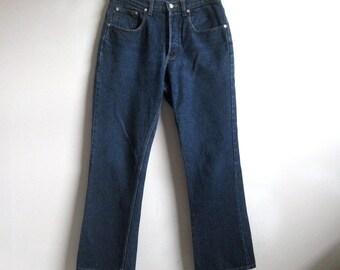 Vintage 80s Polo RALPH Lauren Jeans 1980s Blue Cotton Denim Pants 31