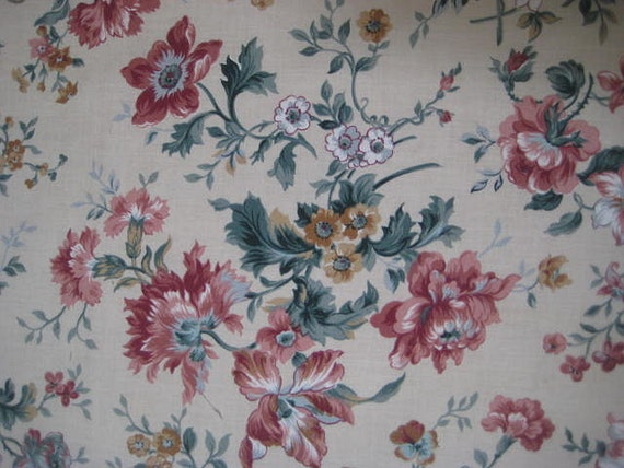 Vintage Fabric 1950s VIP Cranston Floral Screen By StarPower99