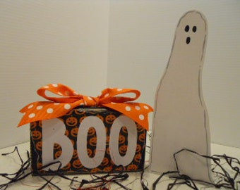 Halloween Ghost Boo and HisWord Block