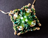 Gentle Green Luna Soft Square Pendant