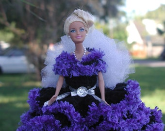 BARBIE Doll / toilet paper doll/ midnite blue